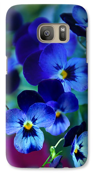 Galaxy Case featuring the photograph Blue Indigo by Judy  Johnson