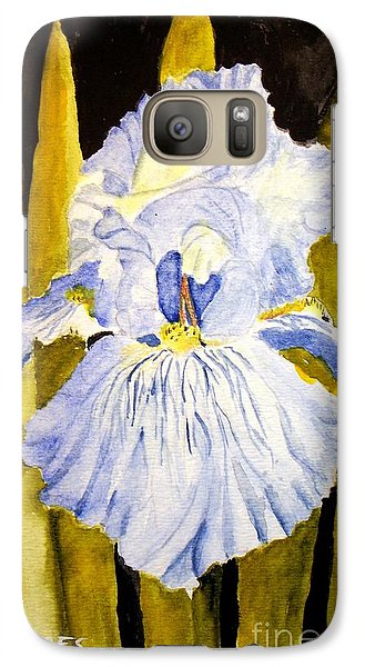 Galaxy Case featuring the painting Blue Iris by Carol Grimes