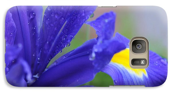 Galaxy Case featuring the photograph Blue Iris by Haleh Mahbod