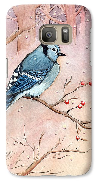 Galaxy Case featuring the painting Blue Jay by Katherine Miller
