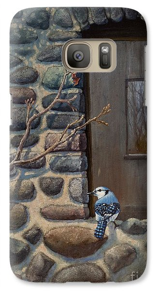 Galaxy Case featuring the painting Blue Jay by Rob Corsetti
