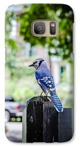 Galaxy Case featuring the photograph Blue Jay by Sennie Pierson