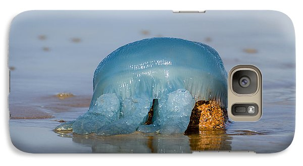 Galaxy Case featuring the photograph Blue Jellyfish 01 by Kevin Chippindall