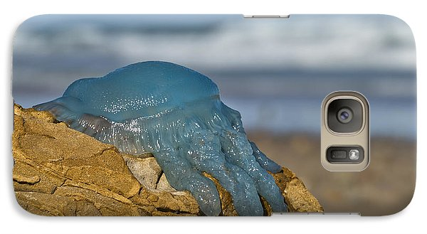 Galaxy Case featuring the photograph Blue Jellyfish 02 by Kevin Chippindall
