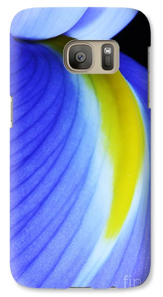 Galaxy Case featuring the photograph Blue by Judy Whitton