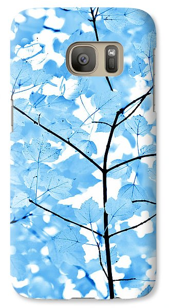 Galaxy Case featuring the photograph Blue Leaves Melody by Jennie Marie Schell
