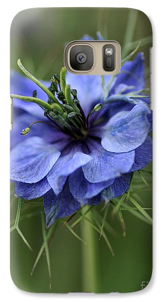 Galaxy Case featuring the photograph Blue Love by Joy Watson