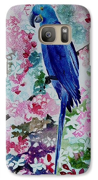 Galaxy Case featuring the painting Blue Macaw  by Geeta Biswas
