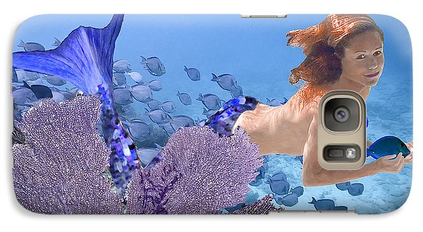 Galaxy Case featuring the photograph Blue Mermaid by Paula Porterfield-Izzo
