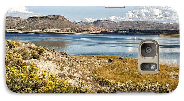 Galaxy Case featuring the photograph Blue Mesa by Cheryl Davis