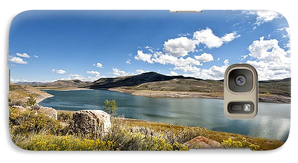 Galaxy Case featuring the photograph Blue Mesa Reservoir by Cheryl Davis