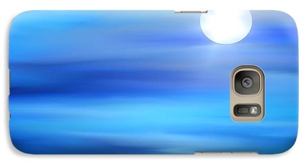 Galaxy Case featuring the painting Super Moon by Yul Olaivar