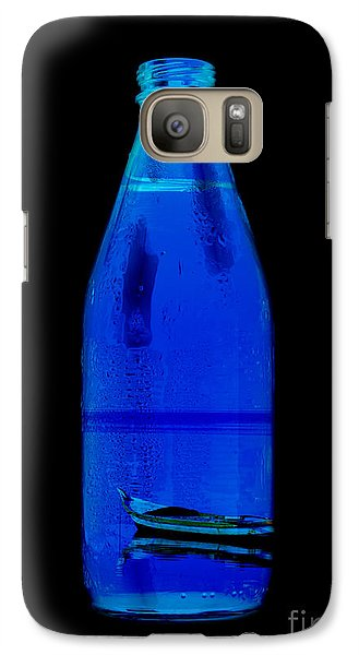 Galaxy Case featuring the photograph Blue by Mohamed Elkhamisy