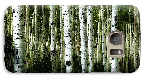 Galaxy Case featuring the photograph Blue Mood Aspens I by Lanita Williams