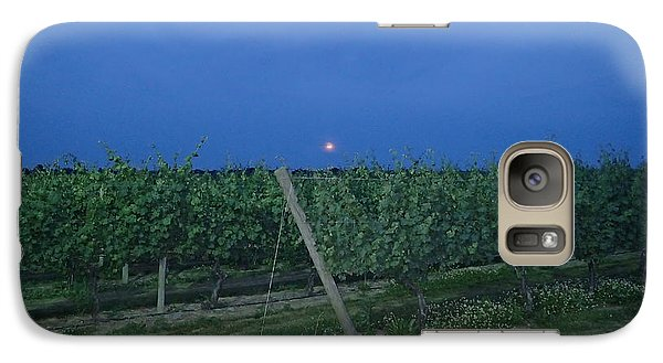 Galaxy Case featuring the photograph Blue Moon by Robert Nickologianis