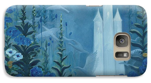 Galaxy Case featuring the painting Blue Morning by Tone Aanderaa