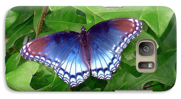 Galaxy Case featuring the photograph Red Spotted Purple Butterfly by Jim Whalen