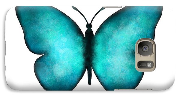 Galaxy Case featuring the painting Blue Morpho Butterfly by Laura Bell