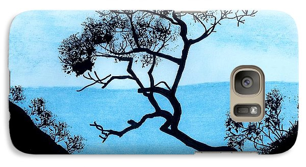 Galaxy Case featuring the drawing Blue Mountain by D Hackett
