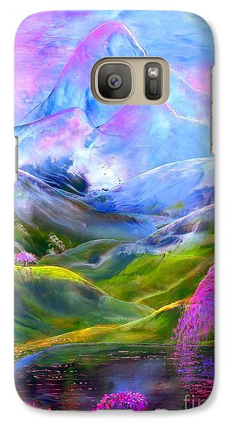 Blue Mountain Pool Galaxy Case by Jane Small