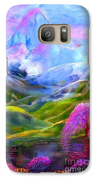 Daisy Galaxy S7 Case - Blue Mountain Pool by Jane Small
