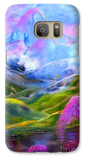 Orchid Galaxy S7 Case - Blue Mountain Pool by Jane Small