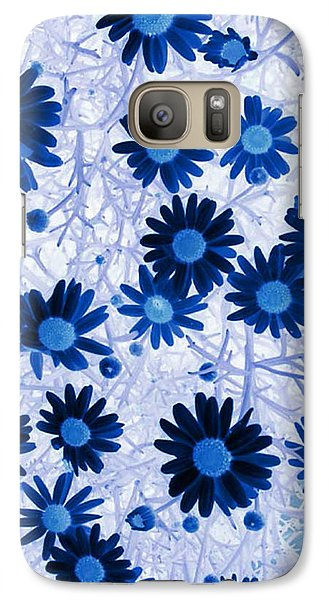 Galaxy Case featuring the digital art Blue Mystical Daisies  by Sandra Foster