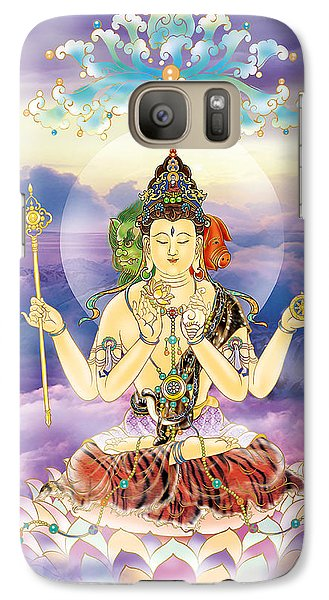Galaxy Case featuring the photograph Blue-neck Kuan Yin by Lanjee Chee