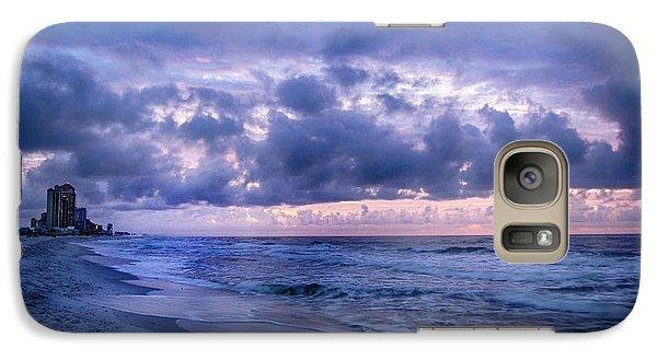 Galaxy Case featuring the digital art Blue Orange Beach by Michael Thomas