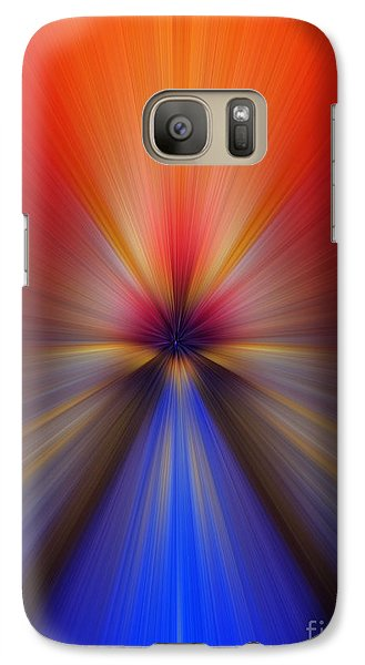 Galaxy Case featuring the photograph Blue Orange Blur by Trena Mara