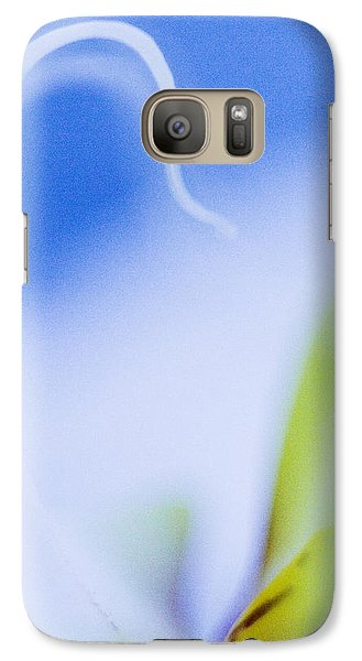 Galaxy Case featuring the photograph Blue Orchid Abstract by Bradley R Youngberg