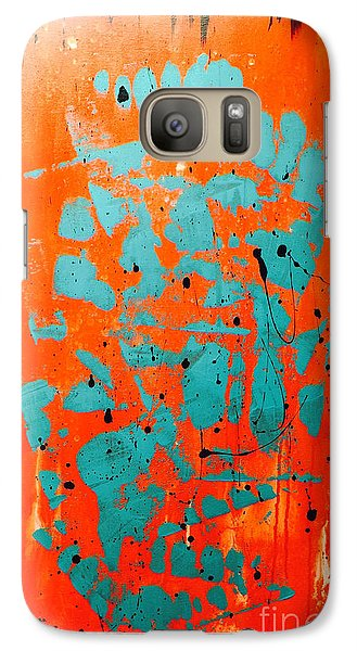 Galaxy Case featuring the painting Blue Pagoda by Theresa Kennedy DuPay