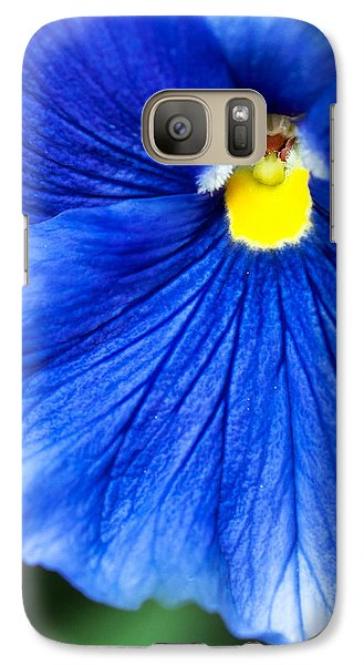 Galaxy Case featuring the photograph Blue Petal by Crystal Hoeveler