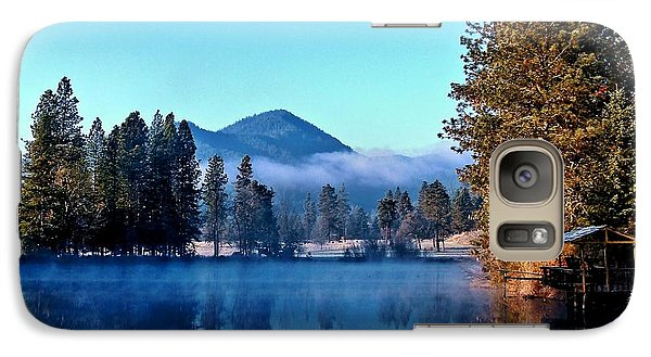 Galaxy Case featuring the photograph Blue Pond Sunrise by Julia Hassett