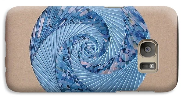 Galaxy Case featuring the mixed media Blue Pool by Ron Davidson
