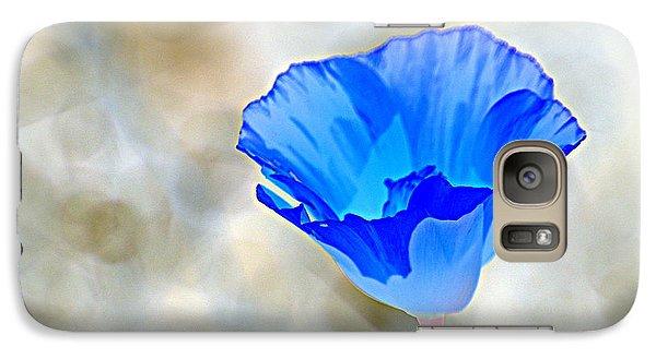 Galaxy Case featuring the photograph Blue Poppy by AJ  Schibig
