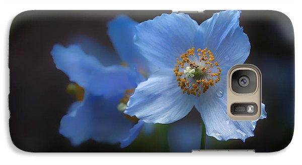 Galaxy Case featuring the photograph Blue Poppy by Jacqui Boonstra