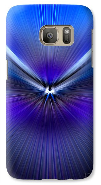 Galaxy Case featuring the photograph Blue Purple Zoom by Trena Mara