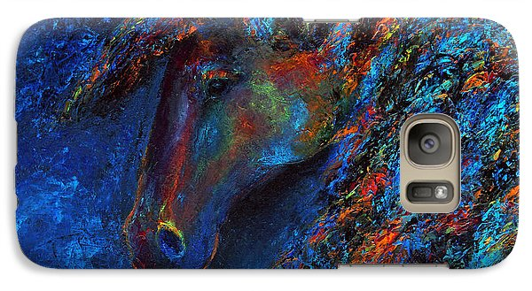 Galaxy Case featuring the painting Blue Rain by Jennifer Godshalk