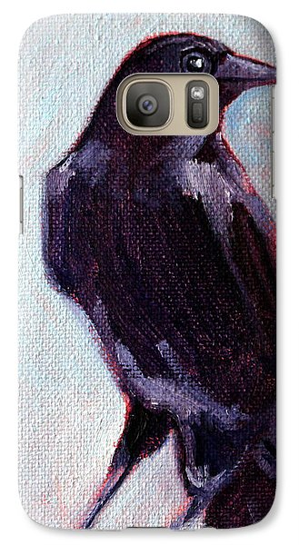 Blue Raven Galaxy S7 Case by Nancy Merkle
