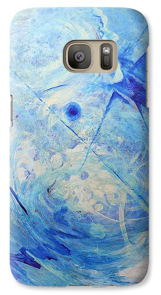 Galaxy Case featuring the painting Blue Reflections by John Fish