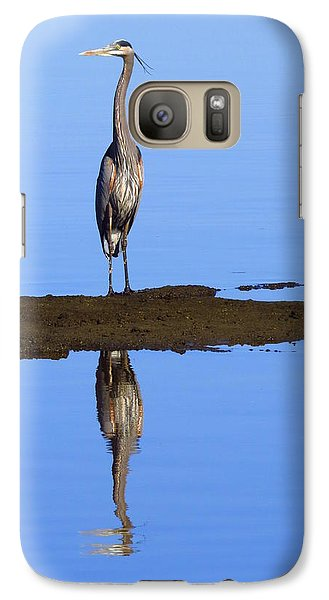 Galaxy Case featuring the photograph Blue Reflections by Phyllis Beiser