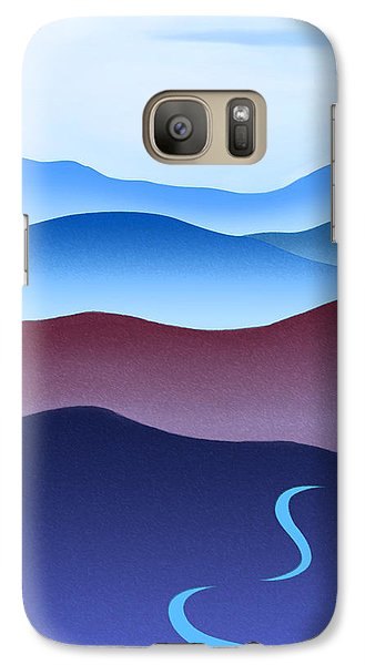 Crane Galaxy S7 Case - Blue Ridge Blue Road by Catherine Twomey