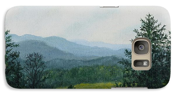 Galaxy Case featuring the painting Blue Ridge Mountain Meadow - After The Rain by Kathleen McDermott