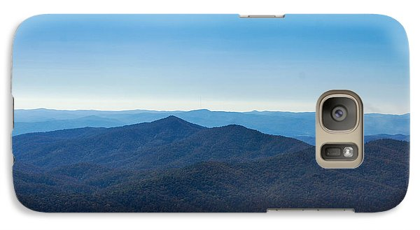 Galaxy Case featuring the painting Blue Ridge Mountains by Debra Crank