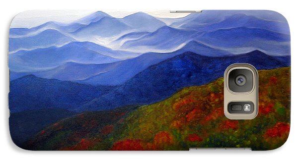 Galaxy Case featuring the painting Blue Ridge Mountains Of West Virginia by Katherine Miller