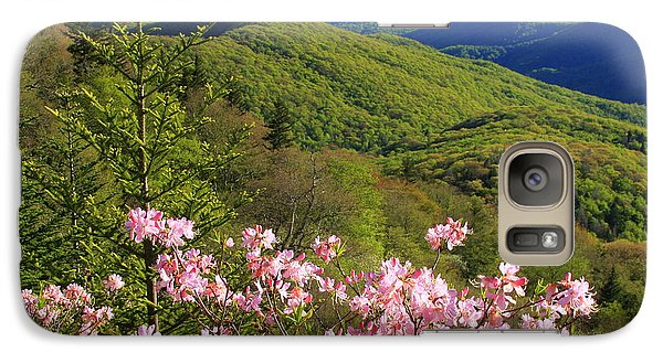 Galaxy Case featuring the photograph Blue Ridge Parkway Rhododendron Bloom- North Carolina by Mountains to the Sea Photo