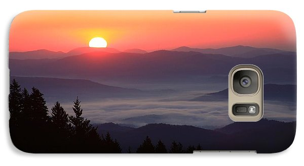 Galaxy Case featuring the photograph Blue Ridge Parkway Sea Of Clouds by Mountains to the Sea Photo
