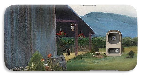Galaxy Case featuring the painting Blue Ridge Vineyard by Donna Tuten