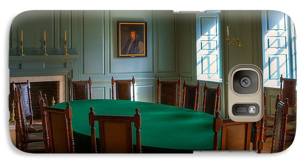 Galaxy Case featuring the photograph Blue Room 2 Wren Building by Jerry Gammon